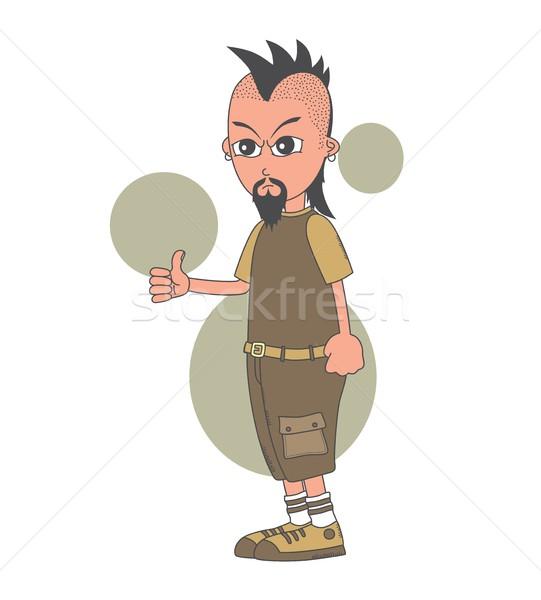 Cartoon vent karakter vector grafische Stockfoto © vector1st