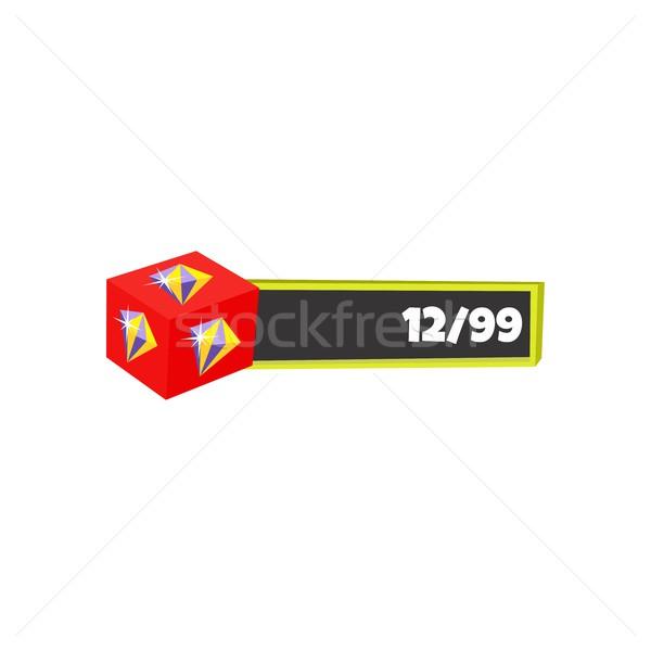Játék tőke alkotóelem vektor művészet grafikai tervezés Stock fotó © vector1st