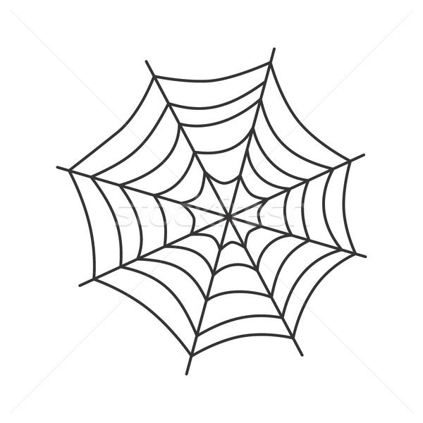 Spinnenweb kunst vector grafische spin gevaar Stockfoto © vector1st