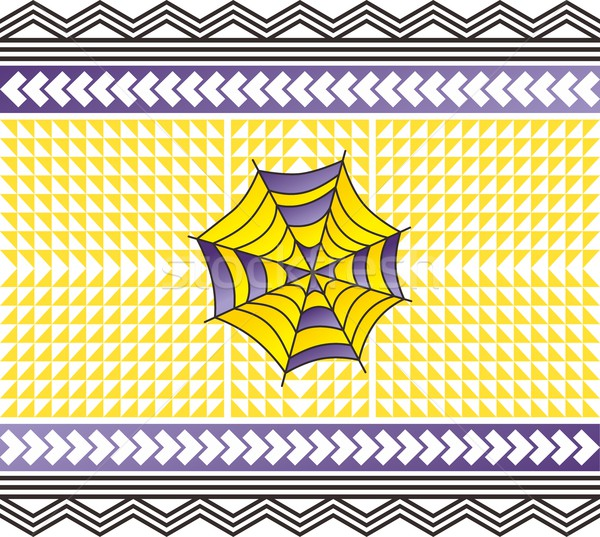 цвета паутина искусства ретро вектора иллюстрация Сток-фото © vector1st