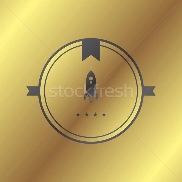 Uzay roket vektör sanat örnek imzalamak Stok fotoğraf © vector1st