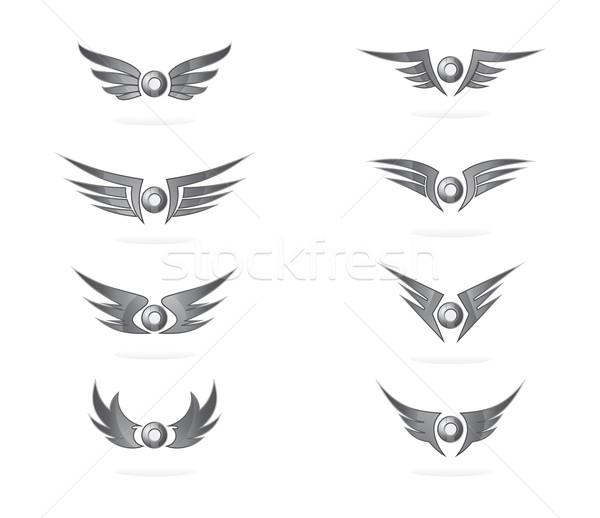 ストックフォト: 翼 · 芸術 · ベクトル · グラフィック · デザイン · 実例