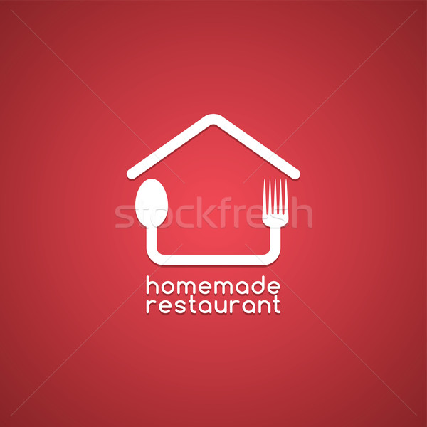 homemade house food logo template Stock photo © vector1st