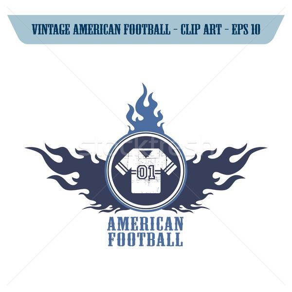 американский футбола икона вектора графических Сток-фото © vector1st