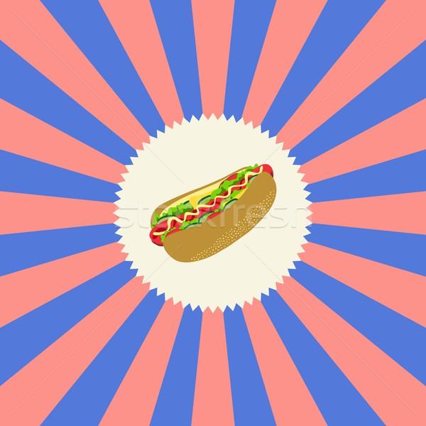 Comida beber cachorro-quente gráfico arte restaurante Foto stock © vector1st