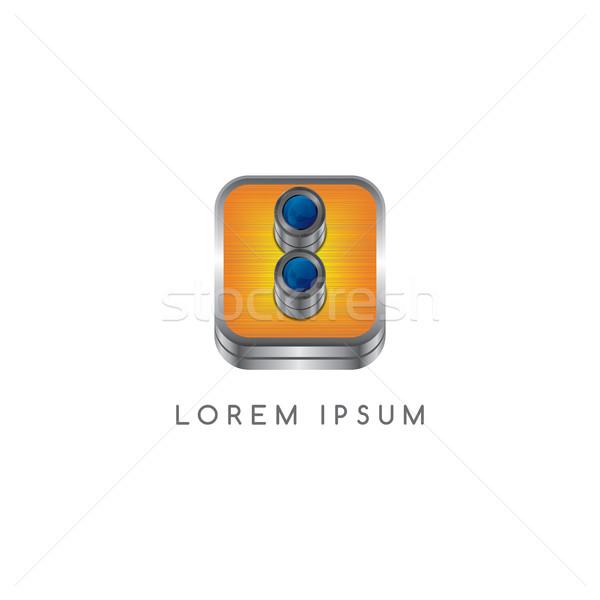 camera photography button logotype Stock photo © vector1st