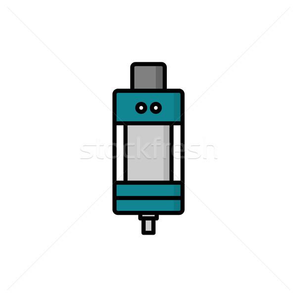 Persoonlijke tank vector kunst winkel wolk Stockfoto © vector1st