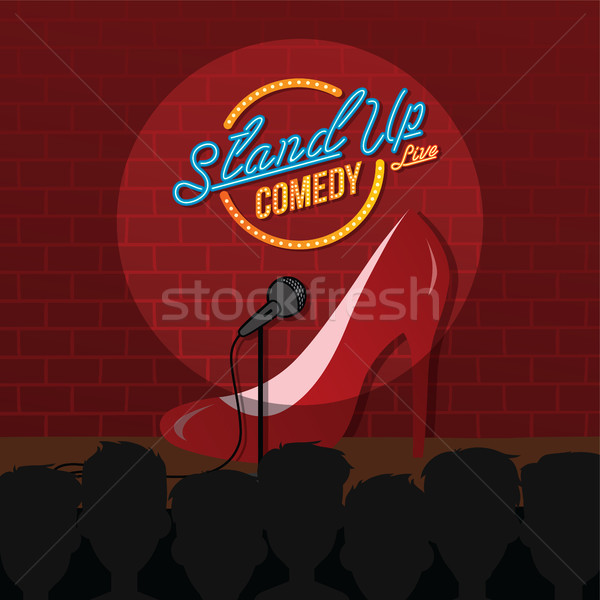 Stand up comédie sexy Homme dessinées Photo stock © vector1st