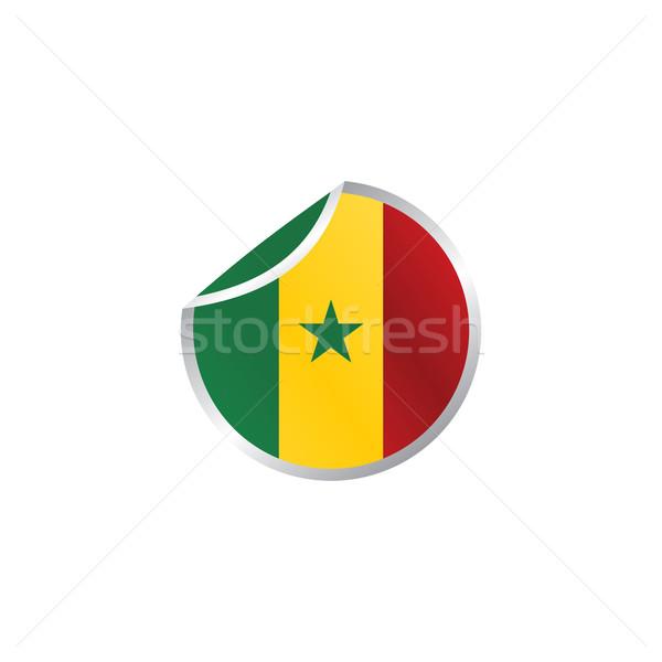 Сенегал флаг вектора искусства Сток-фото © vector1st