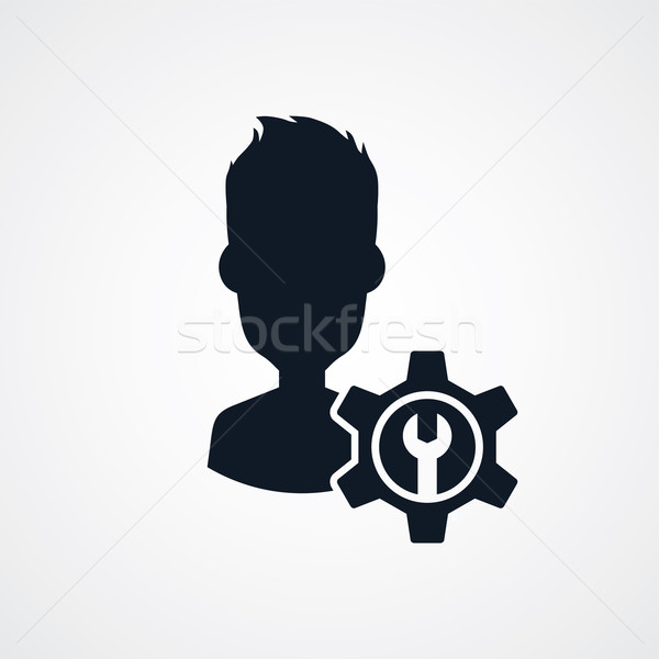avatar portrait cog setting icon theme Stock photo © vector1st