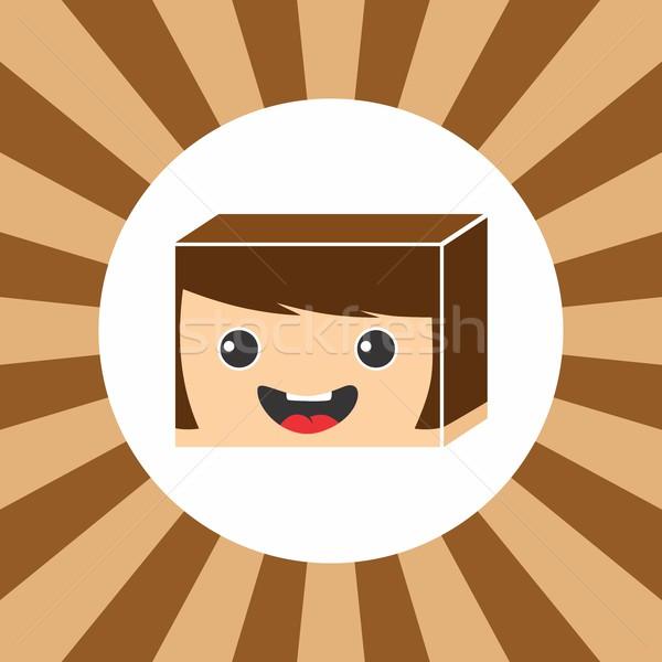 Izometrikus rajzfilmfigura vektoros kép grafikus nő lány Stock fotó © vector1st
