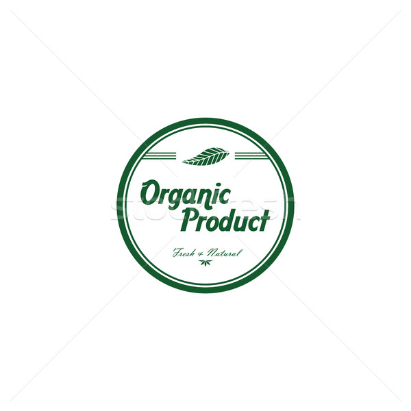 fresh eco friendly green theme label Stock photo © vector1st