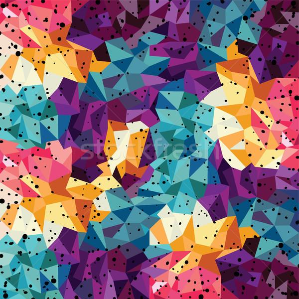 Stok fotoğraf: Soyut · renkli · üçgen · geometrik · doku · mavi
