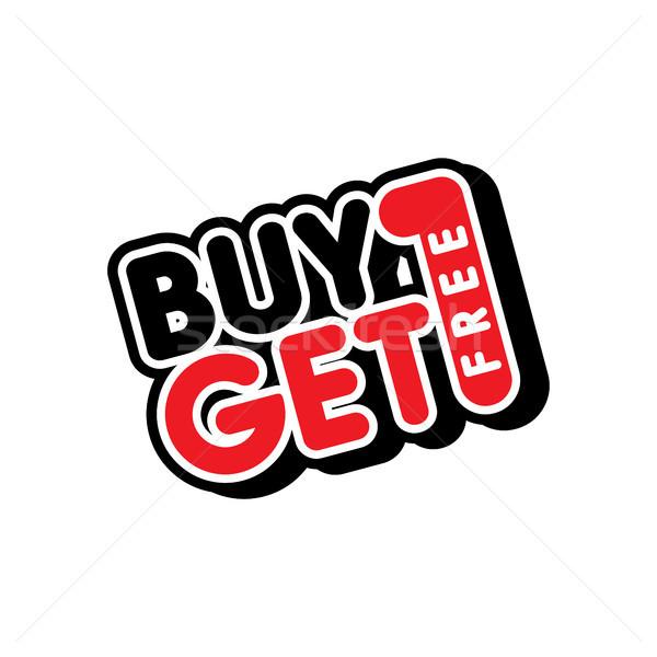 Buy uno libero vendita promo Foto d'archivio © vector1st