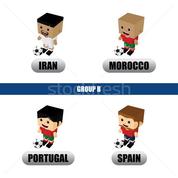グループ チーム ロシア サッカートーナメント ベクトル 芸術 ストックフォト © vector1st