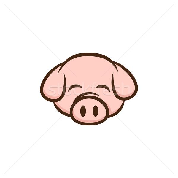 Сток-фото: свинья · свинина · бекон · Cartoon · знак · вектора