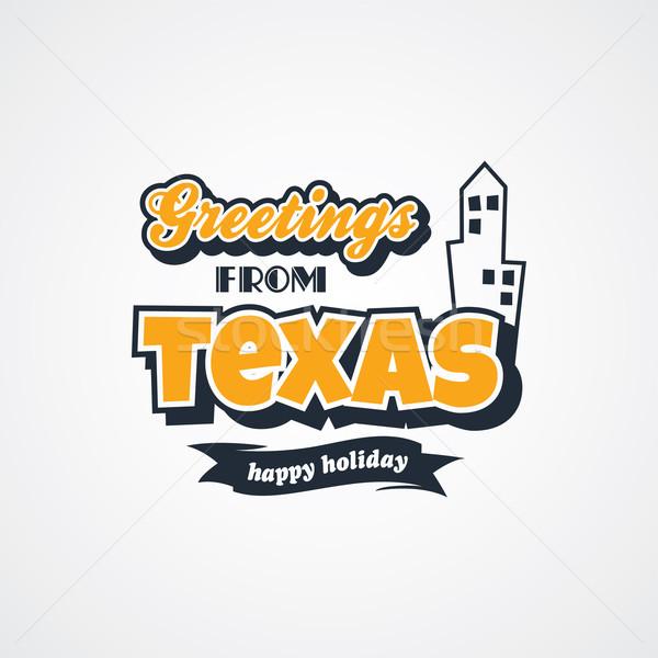 Texas férias vetor arte ilustração Foto stock © vector1st