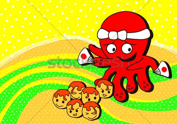Polpo frutti di mare japanese vettore arte illustrazione Foto d'archivio © vector1st