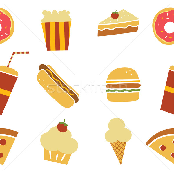 Senza soluzione di continuità ristorante pattern vettore arte illustrazione Foto d'archivio © vector1st