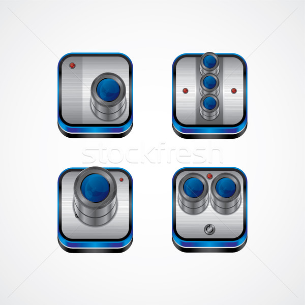 realistic camera photography media Stock photo © vector1st