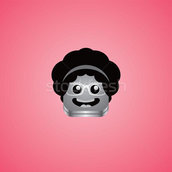 Geek dziewczyna avatar portret wektora sztuki Zdjęcia stock © vector1st