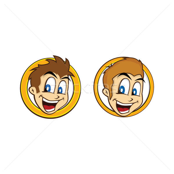 happy guy smile cartoon Stock photo © vector1st