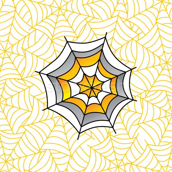 Farbenreich Spinnennetz Kunst Vektor Illustration Design Stock foto © vector1st