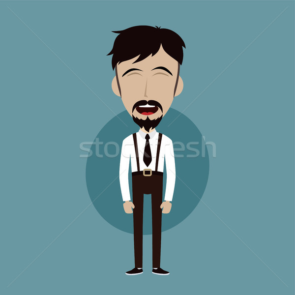 ビジネスマン オフィス 男 面白い デザイン ストックフォト © vector1st