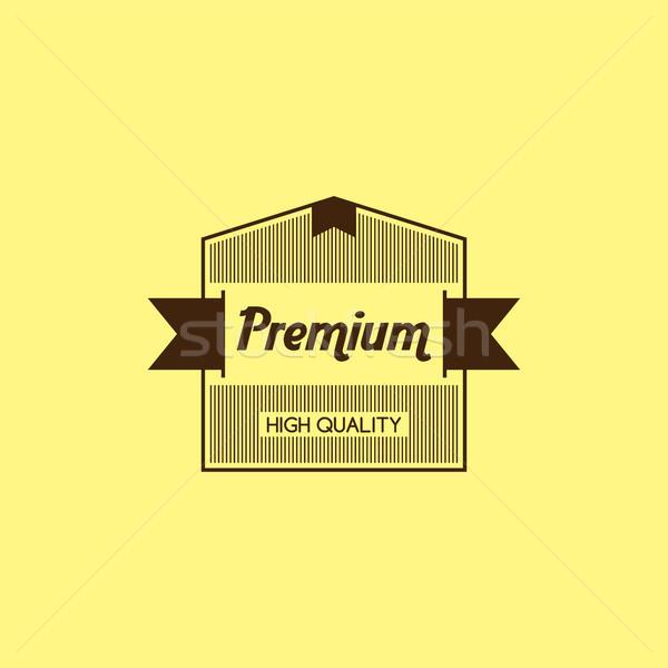 Prima calidad garantizar producto etiqueta placa Foto stock © vector1st