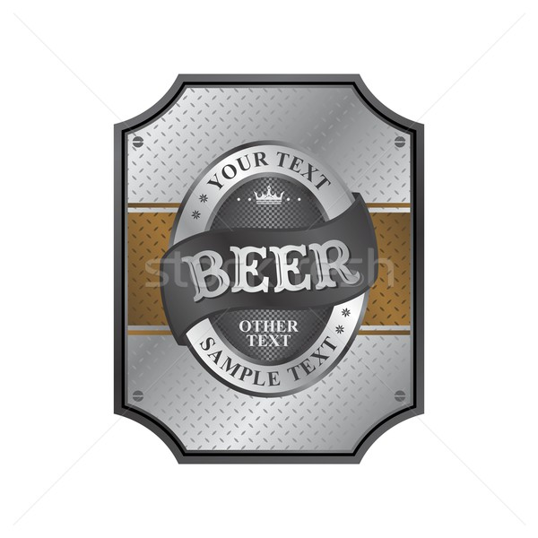 beer label sticker Stock photo © vector1st