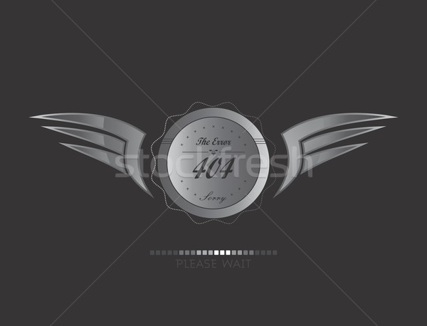 silver wing art Stock photo © vector1st
