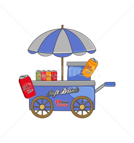 Voedsel drinken cartoon vector grafische kunst Stockfoto © vector1st