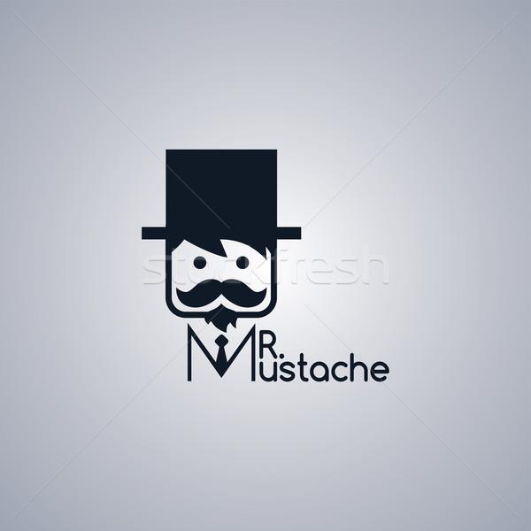 Mustata tip adorabil vector artă ilustrare Imagine de stoc © vector1st