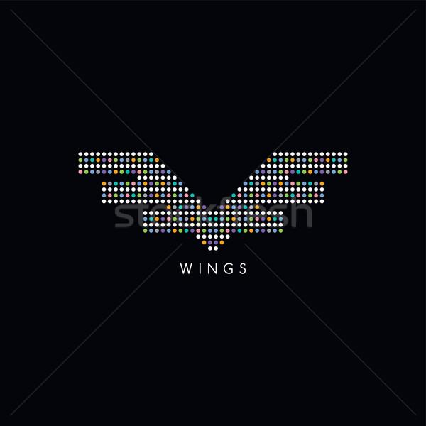 circle dot wing logotype Stock photo © vector1st