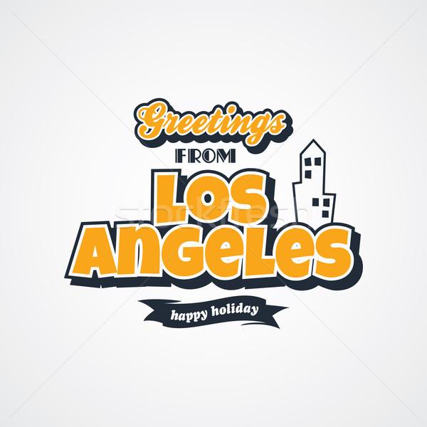 Los Ángeles vacaciones vector arte ilustración Foto stock © vector1st