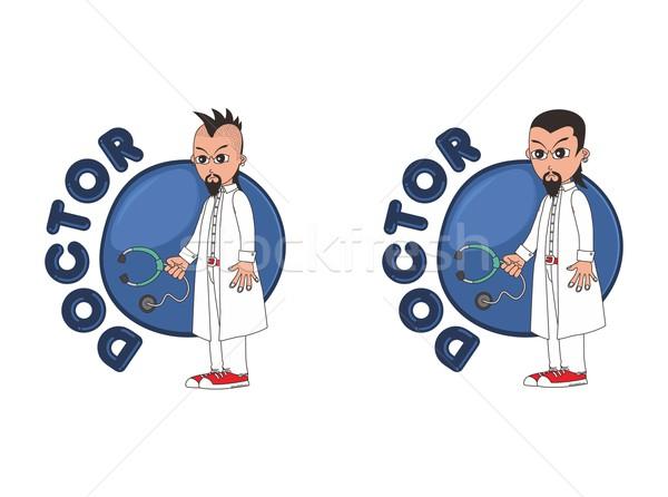 doctor cartoon character Stock photo © vector1st