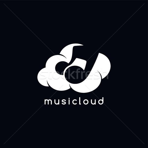 şarkı bulut depolama vektör sanat örnek Stok fotoğraf © vector1st