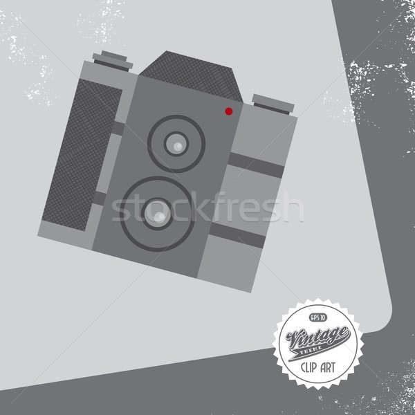 Media interface camera vector grafische kunst Stockfoto © vector1st