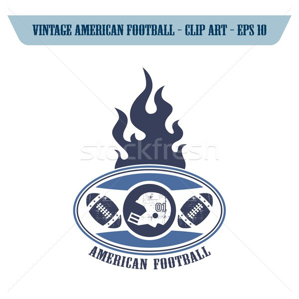 Amerikan futbol ikon düzenlenebilir vektör grafik Stok fotoğraf © vector1st