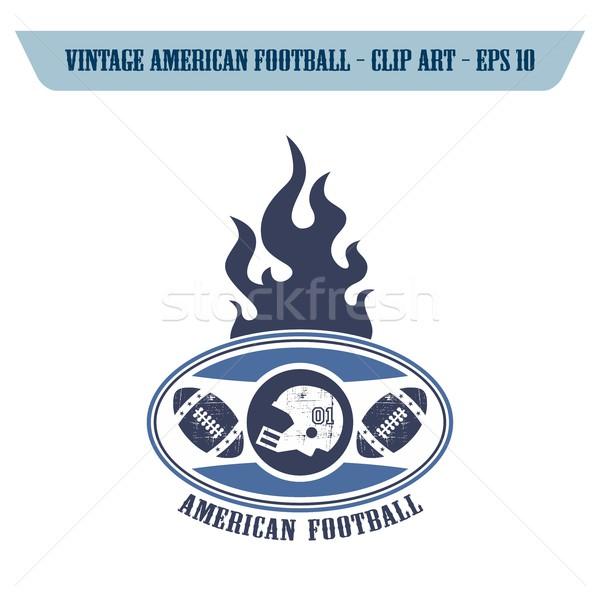 Amerikaanse voetbal icon vector grafische Stockfoto © vector1st