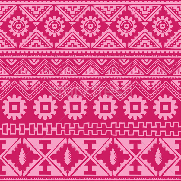 bright pink native american ethnic pattern Stock photo © vector1st