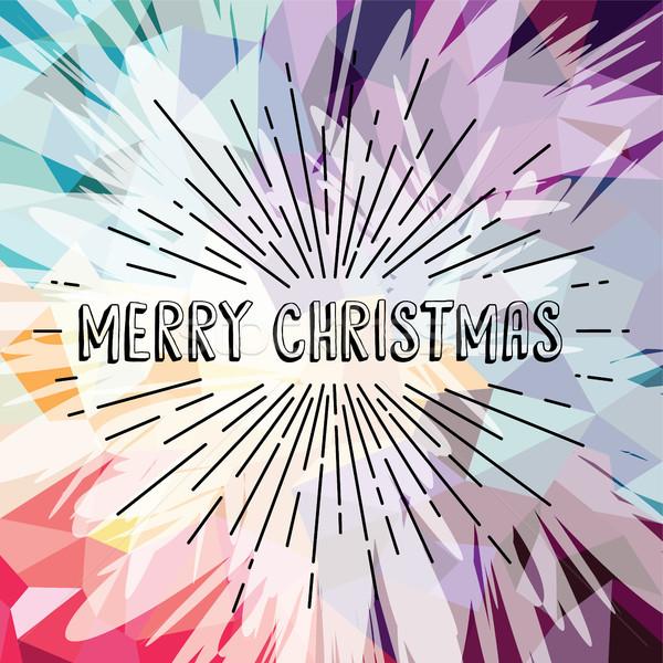 Neşeli Noel renkli metin vektör Stok fotoğraf © vector1st