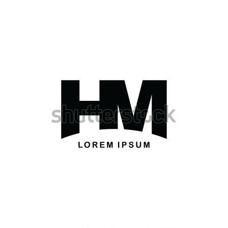 Levél márka logo sablon logotípus Stock fotó © vector1st