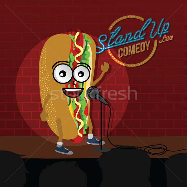 stand up comedy hot dog open mic Stock photo © vector1st