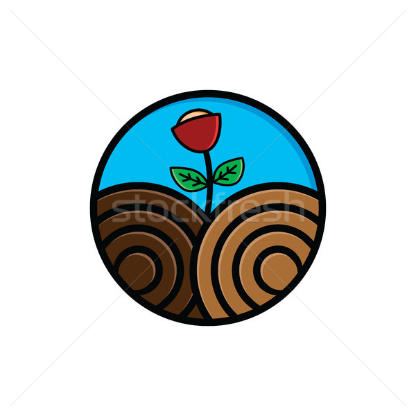 環境にやさしい 緑 アースデー アイコン にログイン シンボル ストックフォト © vector1st
