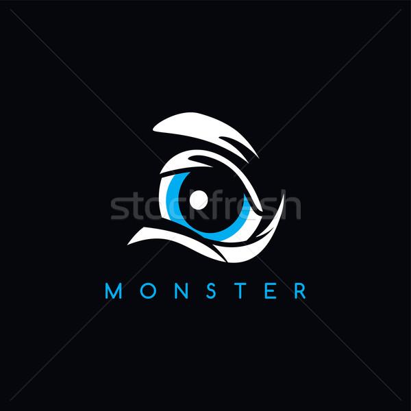 сердиться монстр глаза вектора искусства иллюстрация Сток-фото © vector1st