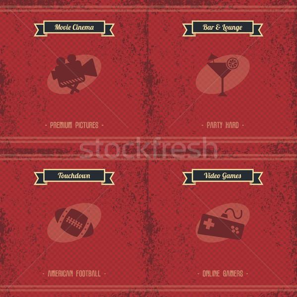видеоигра утешить вектора искусства графических иллюстрация Сток-фото © vector1st