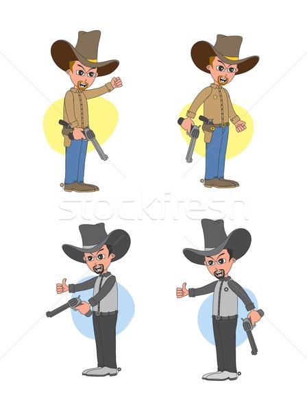 Rajzfilmfigura avatar vektor grafikus művészet illusztráció Stock fotó © vector1st
