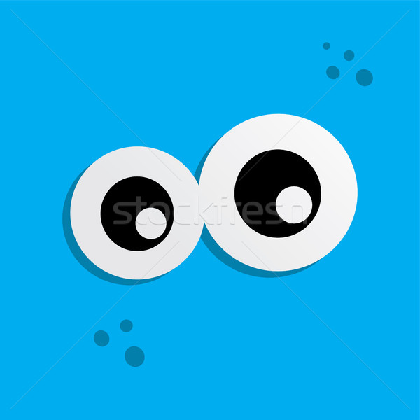 cute adorable ugly scary funny mascot monster eye Stock photo © vector1st
