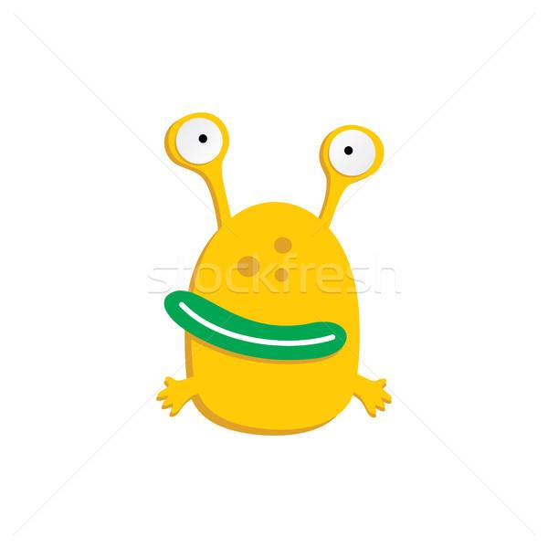 Cute adorable laide effrayant drôle mascotte Photo stock © vector1st